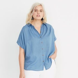 Madewell Central Shirt in Bright Indigo